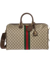 bbb0a290d73d4c Gucci Technical Canvas Duffle Bag in Black for Men - Lyst