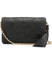 Tory Burch Fleming Wallet Crossbody Bag - Black