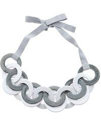 Max Mara Interlocking Circles Necklace - Grey