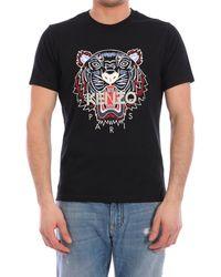 KENZO - Tiger Motif T-shirt - Lyst