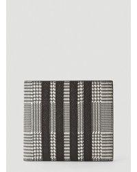 Thom Browne 4-bar Houndstooth Folding Wallet - Black
