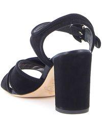 Tod's Cross-strap Block Heel Sandals - Black