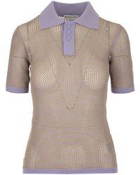 Bottega Veneta Knit Polo Shirt - Multicolor
