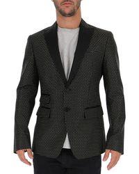DSquared² Geometric Patteren Tuxedo Jacket - Black