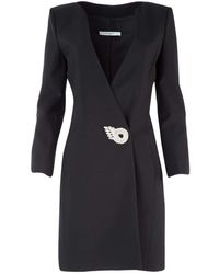 Givenchy Embellished Brooch Mini Dress - Black