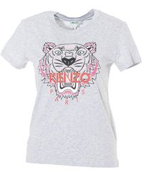 KENZO Tiger Printed T-shirt - Gray