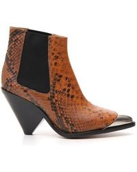Étoile Isabel Marant - Snake-effect Ankle Boots - Lyst