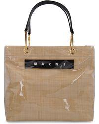 Marni Glossy Grip Tote Bag - Natural