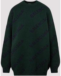 Balenciaga Wool Sweater S - Green