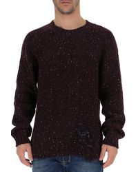 Maison Margiela Distressed Jumper - Red