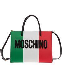 Moschino Italian Logo Shopper Tote Bag - Multicolor