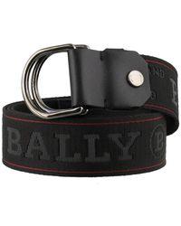 Bally Copper Logo Belt - Black
