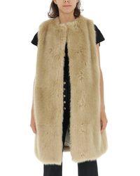 Stella McCartney Dover Faux Fur Vest - Brown
