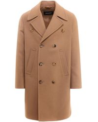Neil Barrett Double-breasted Coat - Brown
