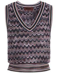 Missoni Patterned V-neck Knitted Vest - Multicolour