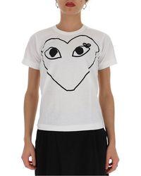 COMME DES GARÇONS PLAY Printed Heart Logo T-shirt - White