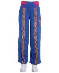 "Fila ""reina"" Python Print Wide Trousers - Blue"