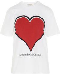 Alexander McQueen Graphic Heart T-shirt - White