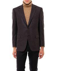 Canali Wool And Silk Blazer - Brown