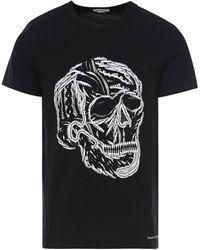 Alexander McQueen Embroidered Skull T-shirt - Black