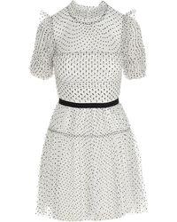 Self-Portrait - Polka-dot Tulle Mini Dress - Lyst