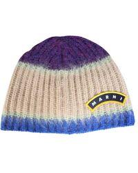 Marni Beanie Hat - Purple