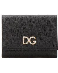 Dolce & Gabbana Embellished Logo Wallet - Black
