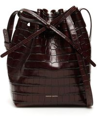 Mansur Gavriel Mini Bucket Bag - Brown