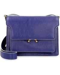 Marni Soft Trunk Mini Crossbody Bag - Blue