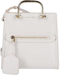 Alexander McQueen Logo Top Handle Bag - White