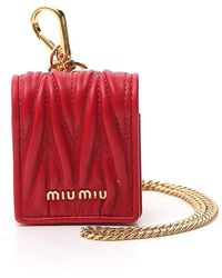 Miu Miu Matelassé Airpods Case - Red