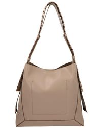 Stella McCartney Medium Hobo Eco Bag In Beige Synthetic Leather - Natural