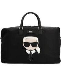 Karl Lagerfeld K/ikonik Weekender Bag - Black