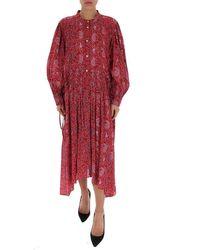 Étoile Isabel Marant Ariana Paisley Print Dress - Red