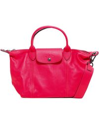 Longchamp Le Pliage Tote Bag - Red
