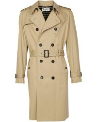 Saint Laurent Double Breasted Trench Coat - Natural