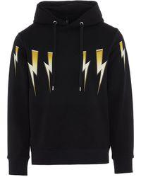 Neil Barrett Pbjs674sp537s516 Sweatshirt - Black