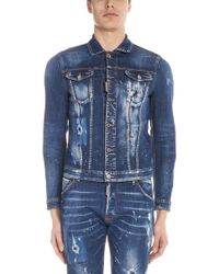 608d65c58c2f77 Lyst - DSquared² Distressed Gilet in White for Men