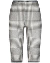 MM6 by Maison Martin Margiela Prince Of Wales Checked Sheer Shorts - Grey