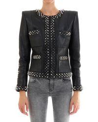 Balmain Spike Detail Jacket - Black