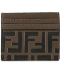 Fendi Ff Monogram Cardholder - Brown