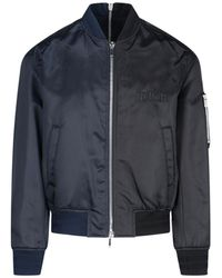 Dior And Judy Blame Embroidered Bomber Jacket - Blue