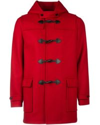 Saint Laurent Duffle Coat - Red