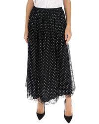 RED Valentino Redvalentino Polka Dot Skirt - Black