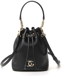 Dolce & Gabbana Logo Bucket Bag - Black
