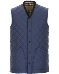 Burberry - Quilted Gilet - Lyst