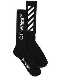 Off-White c/o Virgil Abloh Cotton-blend Logo Socks - Black