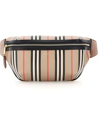 Burberry Stripe Sonny Medium Belt Bag - Black
