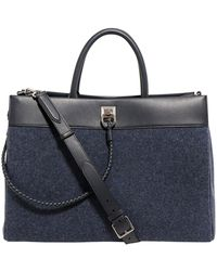 Mulberry Braid Detailed Holdall - Blue
