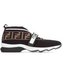 Fendi Rockoko Ff Monogram Sneakers - Multicolor
